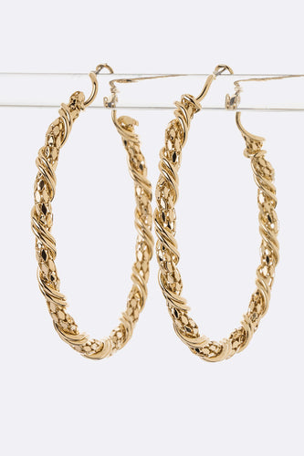 Twisted Chain Hoops