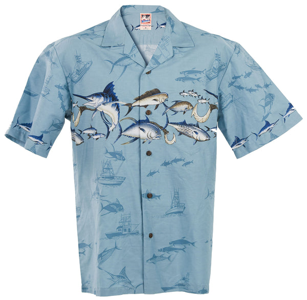 Marlin Aloha Shirt in Blue