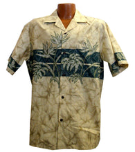 Beige Bird of Paradise Hawaiian Aloha Shirt