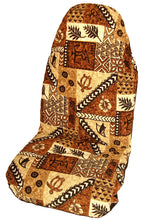 Brown Hawaiian Tapa Car Seat Cover