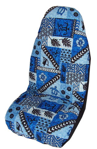 Blue Tapa Car Seat Cover