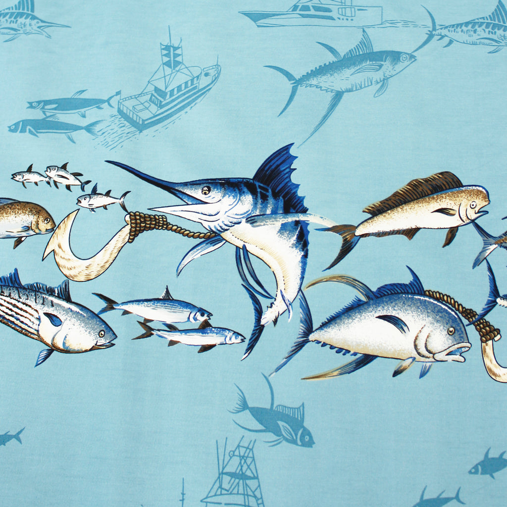 Marlin Blue Fabric by the Yard