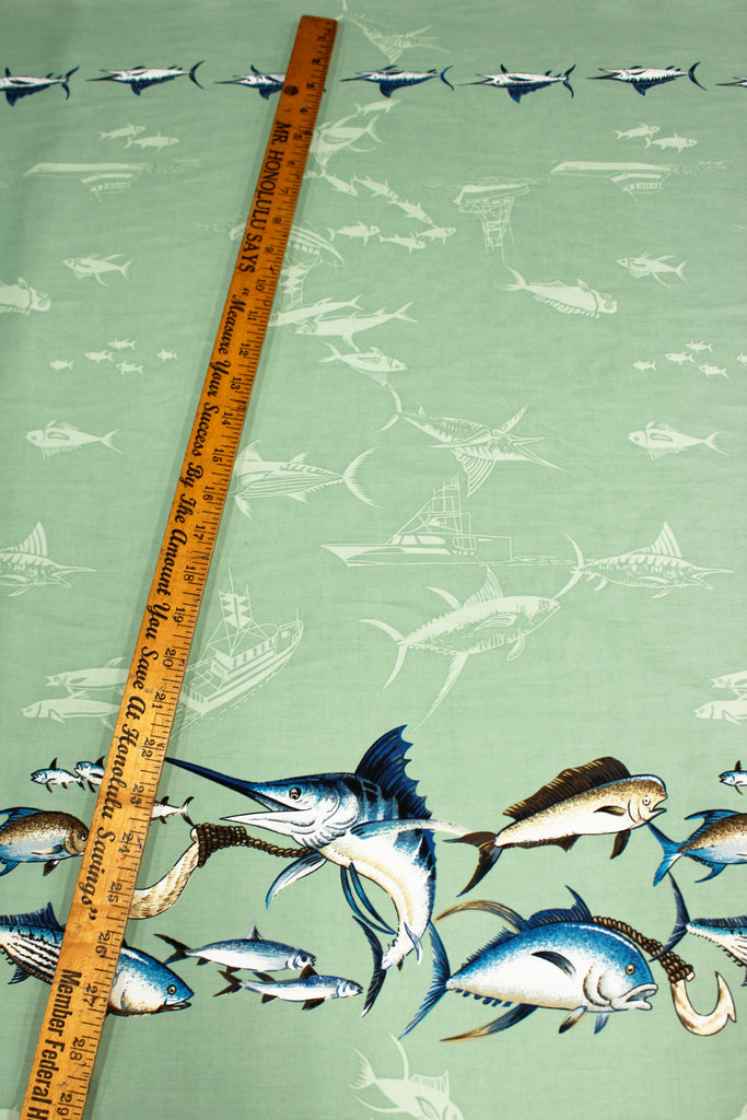 Marlin Green Fabric by the Yard
