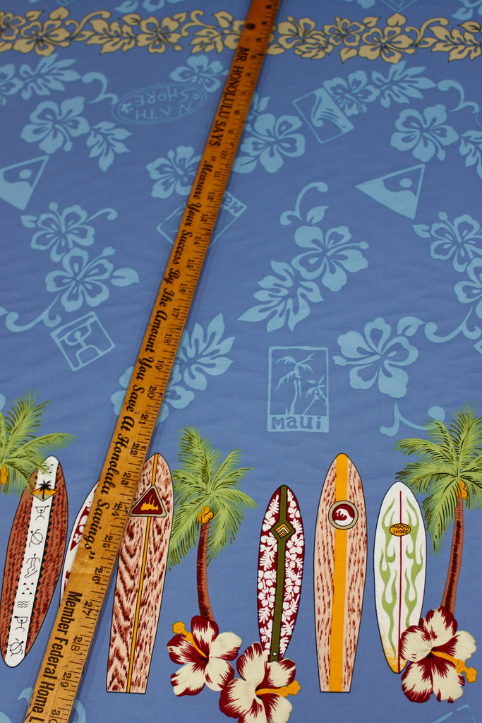 Maui Surf Blue Fabric by the Yard