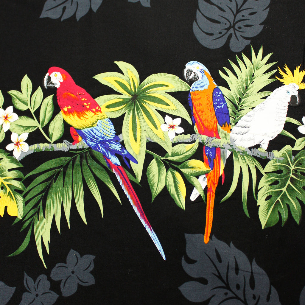 Parrot Black Fabric by the Yard