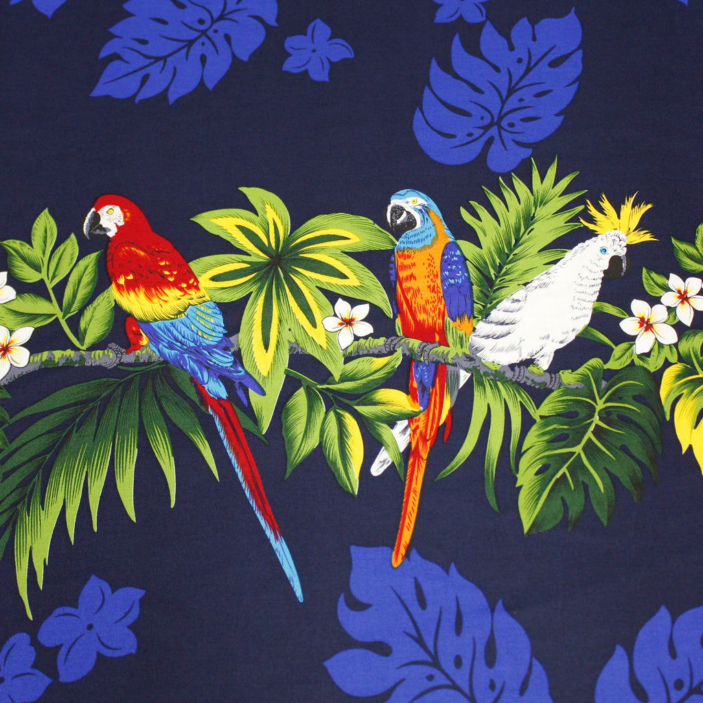 Parrot Blue Fabric by the Yard