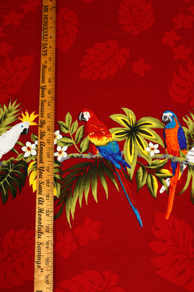 Parrot Red Fabric by the Yard