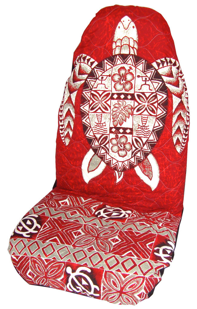 Red Honu Car Seat Cover