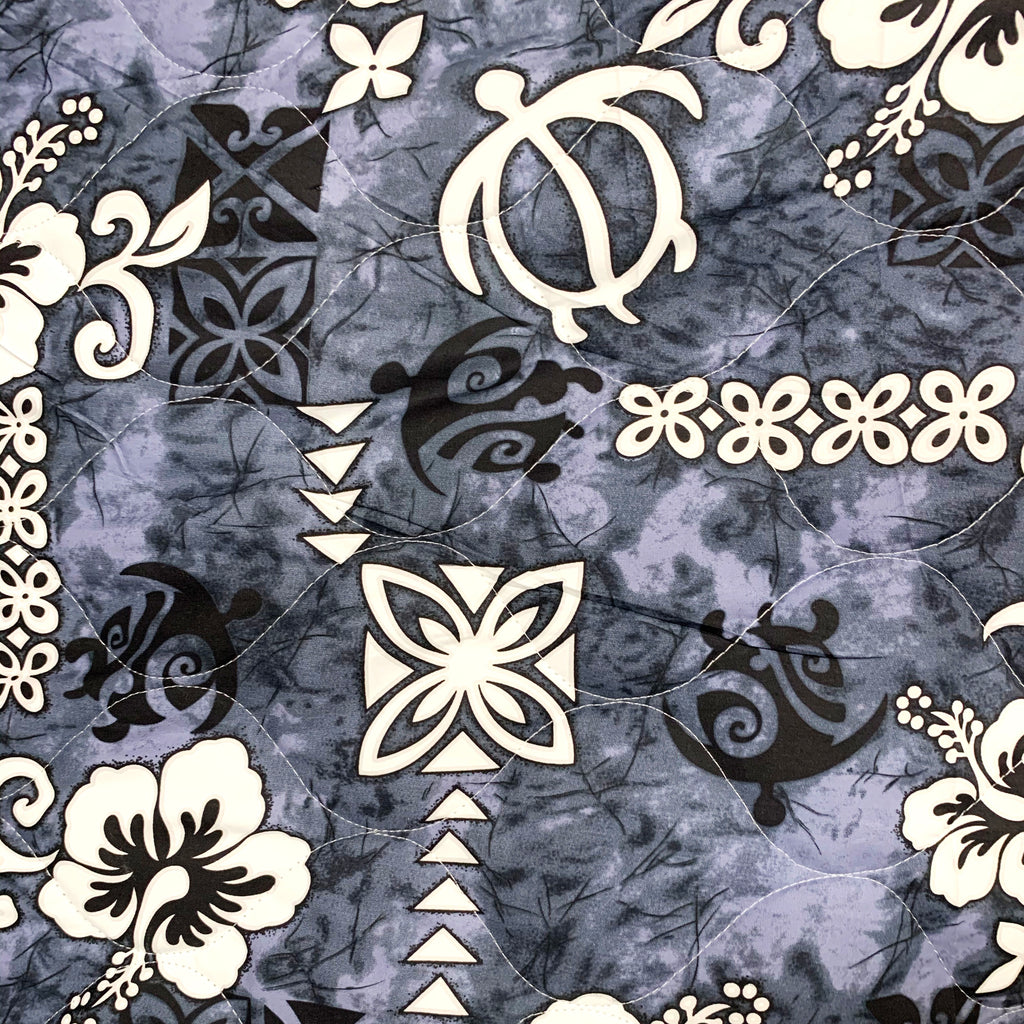 Turtle Slate Quilted Fabric