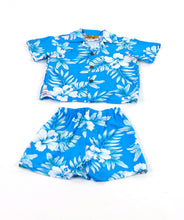 Boy's Bright Hibiscus Hawaiian Cabana Set (Shirt and Pants)