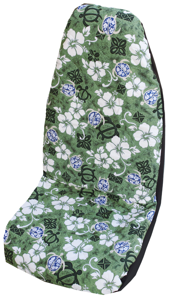 Blue Aloha Honu Hawaiian Car Seat Cover