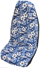 Blue Hibiscus Surf Hawaiian Car Seat Cover