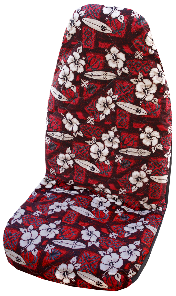 Hawaiian Car Seat Covers >> Red Hibiscus Surf Hawaiian Car Seat Cover - Set of 2 ...