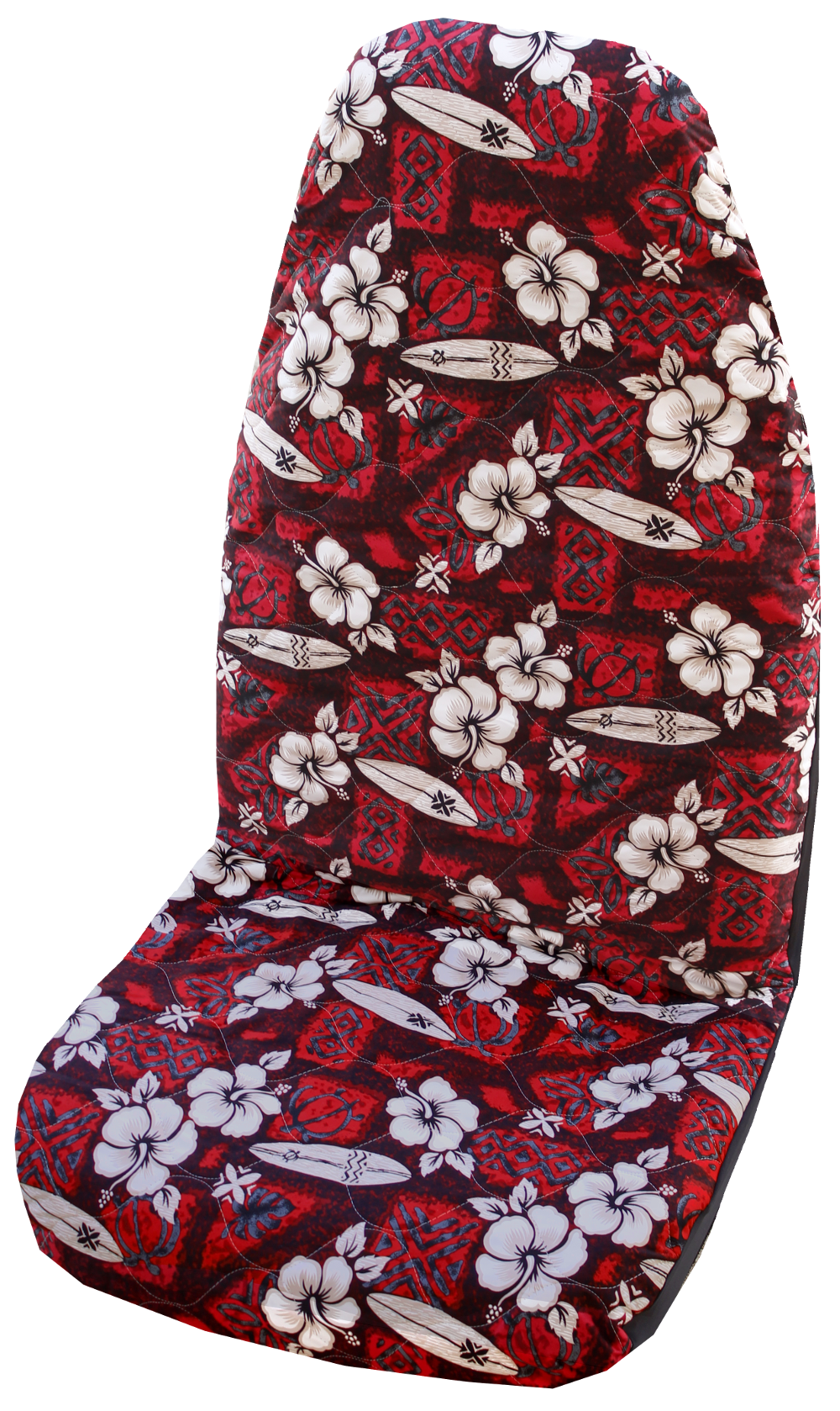Hawaiian Car Seat Covers >> Red Hibiscus Surf Hawaiian Car Seat Cover Set Of 2