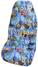 Blue Hibiscus Wave Hawaiian Car Seat Cover