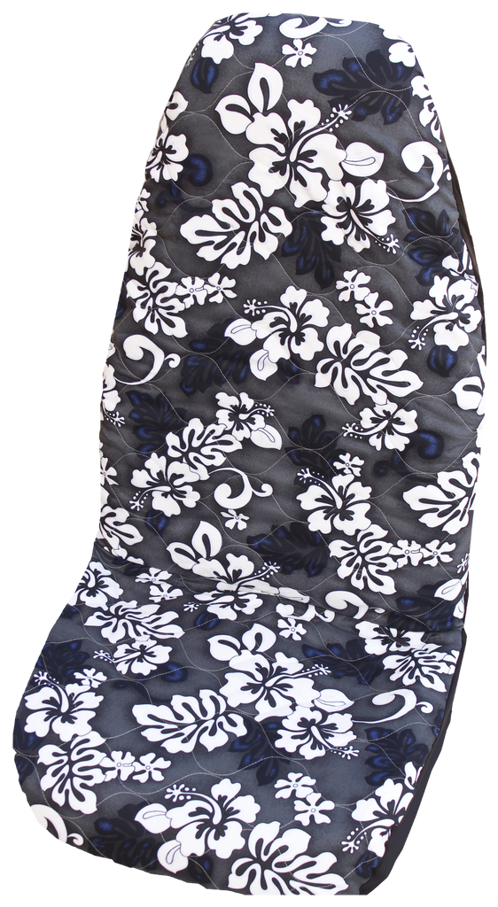 Gray Monstera's Shadow Hawaiian Car Seat Cover
