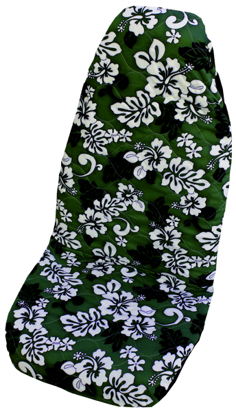 Green Monstera's Shadow Hawaiian Car Seat Cover
