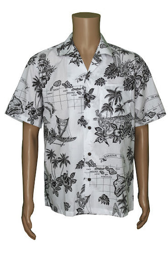 Hawaiian Map Aloha Shirt