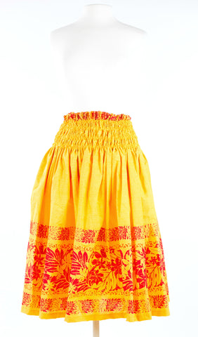 Hawaiian Kahili Pa'u Skirt