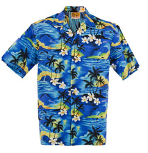 Blue 100 Sunsets Hawaiian Aloha Shirt