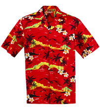 Red 100 Sunsets Hawaiian Aloha Shirt