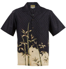 Black Bamboo Hawaiian Aloha Shirt