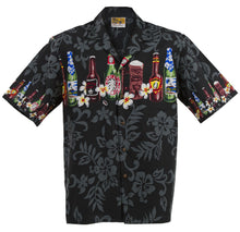 Black Brewed Beer Hawaiian Aloha Shirt