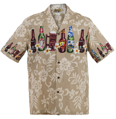 Brown Brewed Beer Hawaiian Aloha Shirt