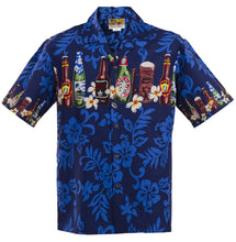 Blue Brewed Beer Hawaiian Aloha Shirt