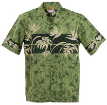 Green Bird of Paradise Hawaiian Aloha Shirt