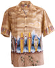 Brown Original North Shore Surf Hawaiian Aloha Shirt