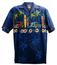 Navy Classic Woody Hawaiian Aloha Shirt