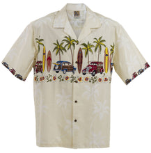 White Classic Woody Hawaiian Aloha Shirt