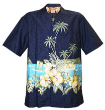 Navy Diamond Head Hawaiian Aloha Shirt