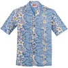 Light Blue Flowers in Paradise Hawaiian Aloha Shirt