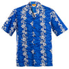 Navy Flowers in Paradise Hawaiian Aloha Shirt
