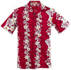 Red Flowers in Paradise Hawaiian Aloha Shirt