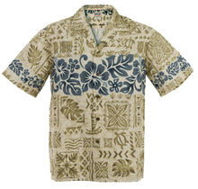 Beige Hibiscus Band Hawaiian Aloha Shirt