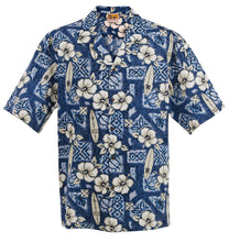 Blue Hibiscus Surf Hawaiian Aloha Shirt