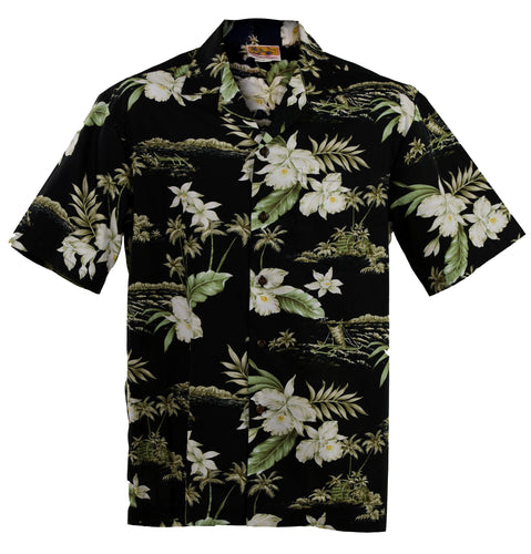 Black Orchid Hawaiian Aloha Shirt