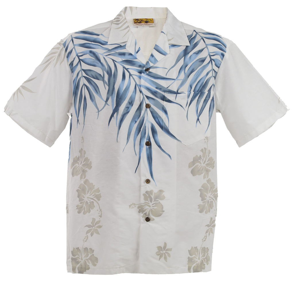 White Shoulder Fern Hawaiian Aloha Shirt