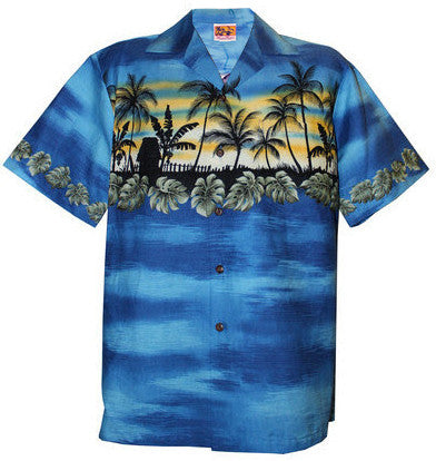 Blue Vacation Hawaiian Aloha Shirt