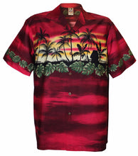 Red Vacation Hawaiian Aloha Shirt