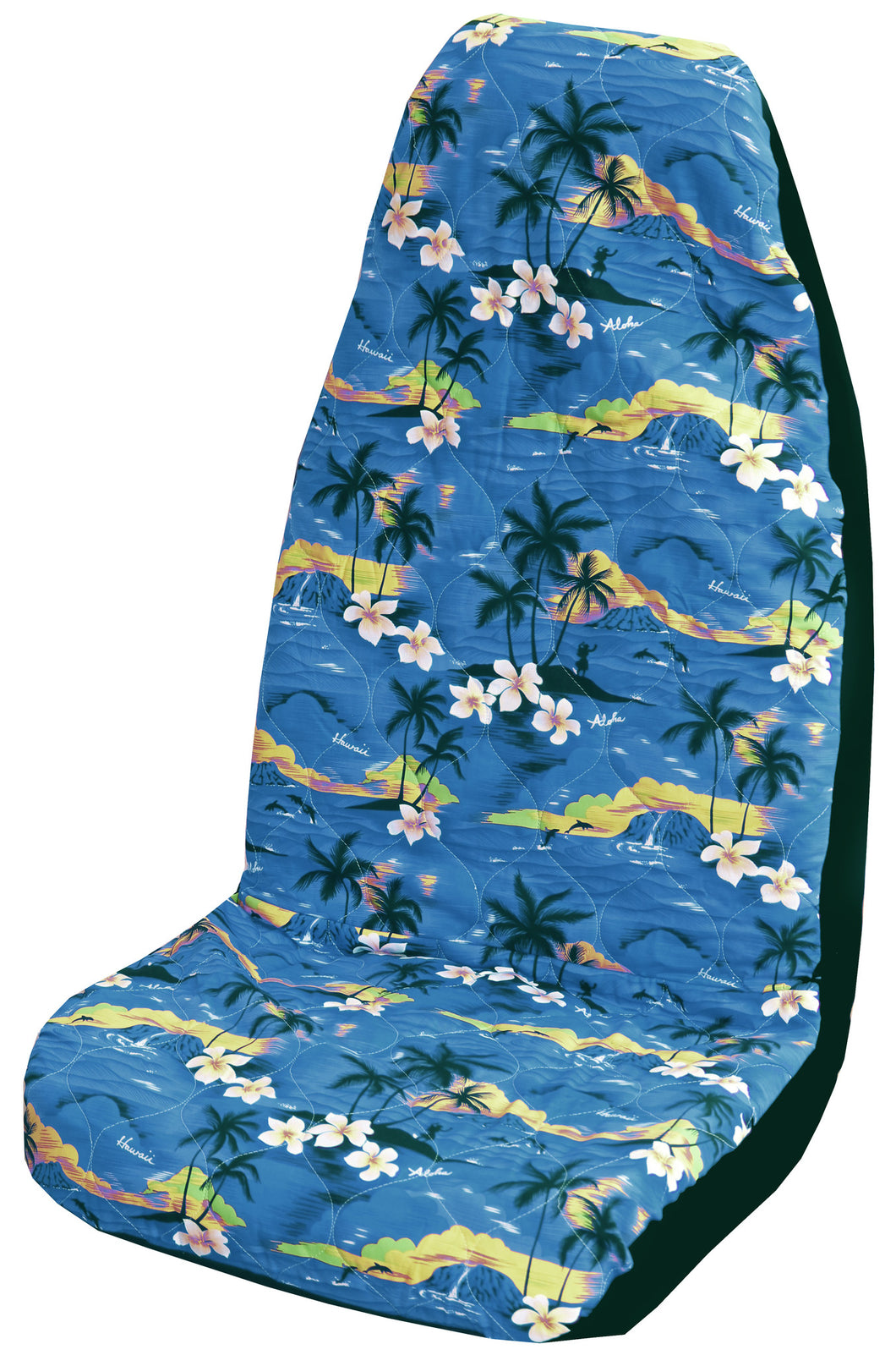 Blue 100 Sunsets Hawaiian Car Seat Cover - Set of 2