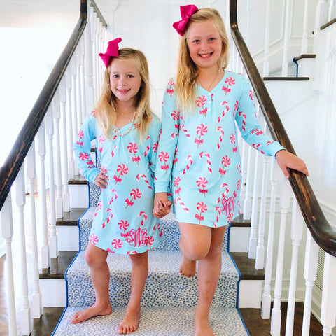 Monogram Pink Multi-Heart Pajama Set