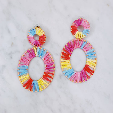 Crystal Raffia Earrings