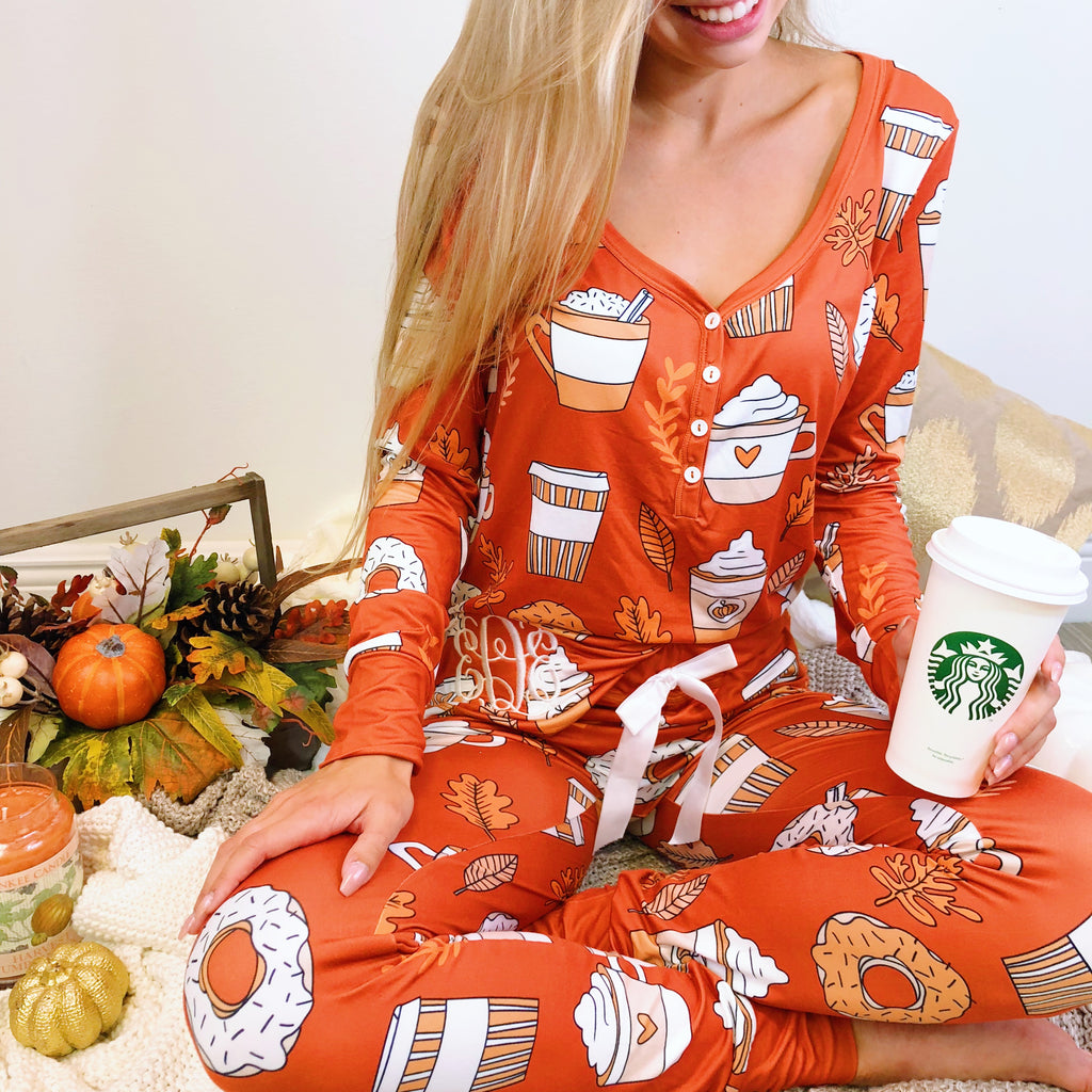 Monogram Happy Fall Pajama Set