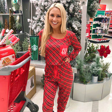 Monogram Christmas Plaid Jogger