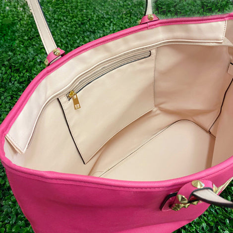 Monogram Barbie Pink Tote