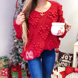 Monogram Pom Pom Sweater